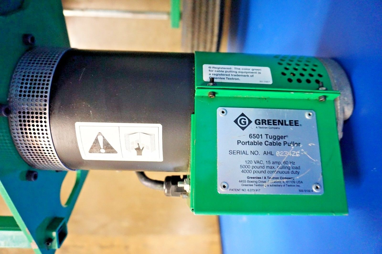 Greenlee 6501 5000 lbs w/ Ultra Tugger Cable Puller Tugging Feeder ...